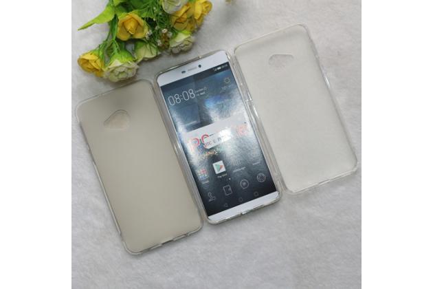Фирменная ультра-тонкая полимерная из мягкого качественного силикона задняя панель-чехол-накладка для HTC U Play прозрачно-белого цвета