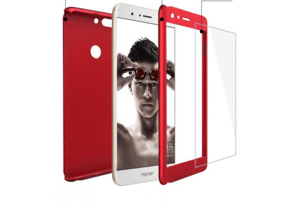 Фирменный уникальный чехол-бампер-панель с полной защитой дисплея и телефона по всем краям и углам для Huawei Honor 8 Pro 5.7/Huawei Honor V9 5.7(DUK-AL20) красного цвета