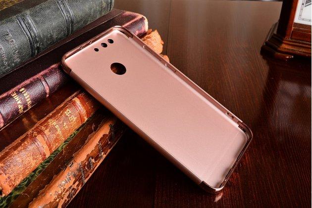 Фирменная задняя панель-крышка-накладка из тончайшего и прочного пластика для Huawei Honor 8 Pro 5.7/Huawei Honor V9 5.7(DUK-AL20) розовое золото.