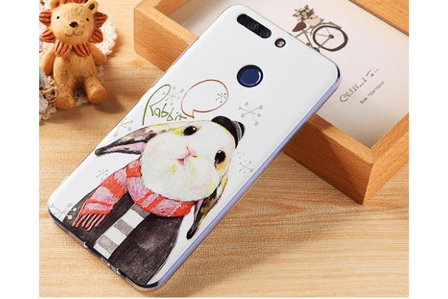 """Фирменная уникальная задняя панель-крышка-накладка из тончайшего силикона для Huawei Honor 8 Pro 5.7/Huawei Honor V9 5.7(DUK-AL20) """" тематика Кролик"""""""