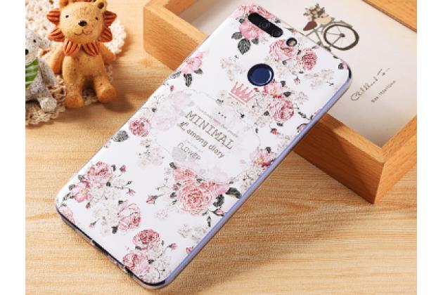 """Фирменная роскошная задняя панель-чехол-накладка с безумно красивым расписным рисунком на Huawei Honor 8 Pro 5.7/Huawei Honor V9 5.7(DUK-AL20) """" тематика Винтажные Розы"""""""