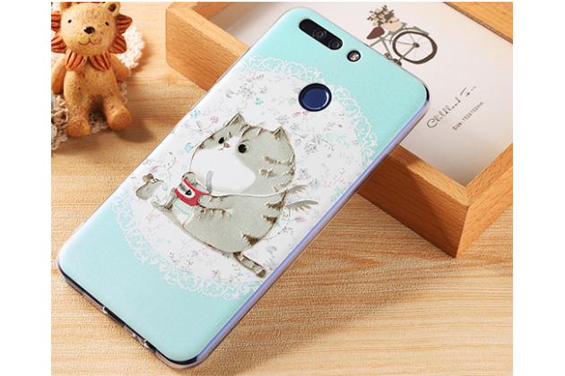 """Фирменная роскошная задняя панель-чехол-накладка с безумно красивым расписным рисунком на Huawei Honor 8 Pro 5.7/Huawei Honor V9 5.7(DUK-AL20) """" тематика Кот"""""""
