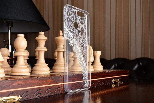 "Фирменная роскошная задняя панель-чехол-накладка из мягкого силикона с объемным 3D изображением на Huawei Honor 8 Pro 5.7/Huawei Honor V9 5.7(DUK-AL20) с безумно красивым рисунком "" тематика Кружево"""