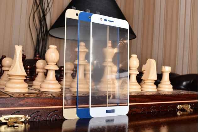 Фирменное 3D защитное стекло  которое полностью закрывает экран / дисплей по краям с олеофобным покрытием для Huawei Honor 8 Pro 5.7/Huawei Honor V9 5.7(DUK-AL20)