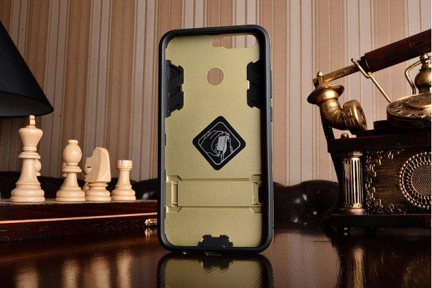 Противоударный усиленный ударопрочный фирменный чехол-бампер-пенал для Huawei Honor 8 Pro 5.7/Huawei Honor V9 5.7(DUK-AL20) золотого цвета.