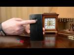 Фирменный чехол-книжка из качественной импортной кожи с подставкой застёжкой и визитницей для ХТС Уан М9/ М9эс черный