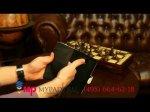 Фирменный чехол-книжка для Samsung Galaxy Note 3 SM-N900/N9005 лаковая кожа крокодила молочный белый