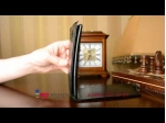 """Фирменный оригинальный вертикальный откидной чехол-флип для LG G Flex 2 (H959) черный кожаный """"Prestige"""" Италия"""