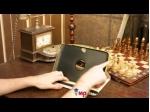 Фирменный оригинальный чехол для Samsung Google Nexus 10 кожа крокодила золотой. Количество ограничено