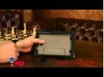 """Фирменный чехол бизнес класса для LG G Pad 7.0 V400 с визитницей и держателем для руки черный натуральная кожа """"Prestige"""" Италия"""
