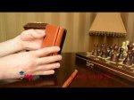 Фирменный чехол-книжка из качественной импортной кожи с мульти-подставкой застёжкой и визитницей для Самсунг Галакси Гелекси Нот 4 коричневый