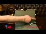 """Фирменный чехол открытого типа без рамки вокруг экрана для Asus MeMO Pad FHD 10 ME302KL LTE с мульти-подставкой и держателем для руки белый кожаный """"Deluxe"""" Италия"""