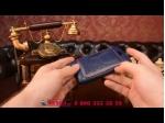 Фирменная роскошная элитная премиальная задняя панель-крышка для ZTE Blade Q Lux 3G/ Q Lux 4G (A430) из качественной кожи буйвола с визитницей синий