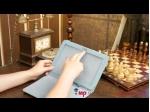 Чехол для Samsung Galaxy Tab 2 10.1 P5100 бело-голубой далматинец