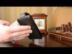 Фирменный оригинальный вертикальный откидной чехол-флип для Samsung Galaxy A3 Dual Sim SM-A300F черный кожаный