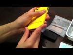 Чехол для Samsung Galaxy Tab 7.0 P6200 желтый кожаный