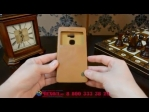 """Фирменный оригинальный чехол-кейс из импортной кожи Quick Circle для Huawei Mate S 5.5"""" с умным окном коричневый"""