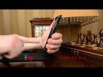 """Вертикальный откидной чехол-флип для iPhone 6 Plus 5.5"""" черный кожаный"""