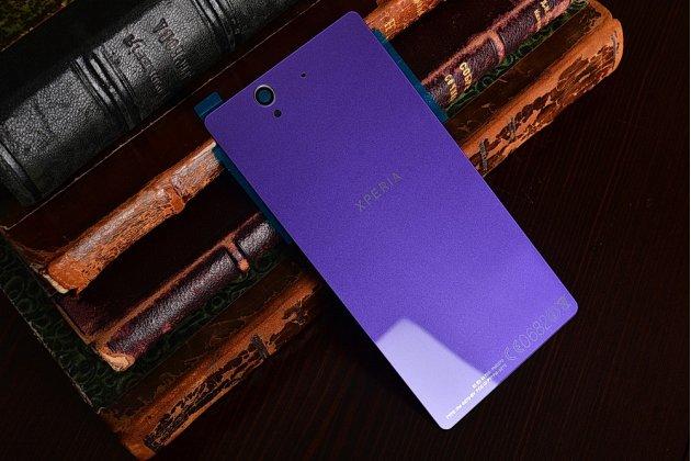 Родная оригинальная задняя крышка-панель которая шла в комплекте для Sony Xperia Z C6602/C6603 (L36h) фиолетовая