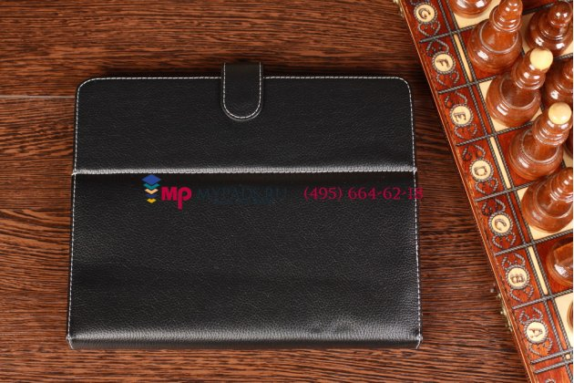 Чехол-обложка для 3Q Qoo Surf Tablet PC QS9715F черный кожаный