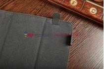 """Чехол-обложка для 3Q Qoo q-pad RC9724C коричневый кожаный """"Deluxe"""""""