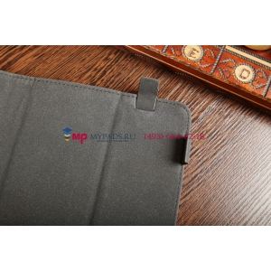 Чехол-обложка для 3Q Qoo! Surf RC0722C черный с серой полосой кожаный