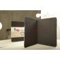 Чехол-обложка для 3Q Qoo! Surf TS1010C черный с серой полосой кожаный