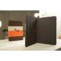 Чехол-обложка для 3Q Qoo! Surf TS1010C коричневый с оранжевой полосой кожаный
