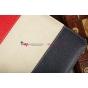 Чехол-обложка для 3Q Qoo! Surf TS1010C синий с красной полосой кожаный