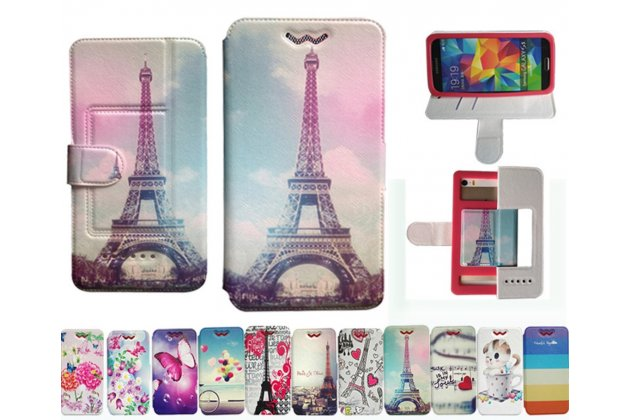 Чехол-книжка для iPod touch 6 с застежкой и красивым необычным рисунком и внутренним защитным силиконовым бампером