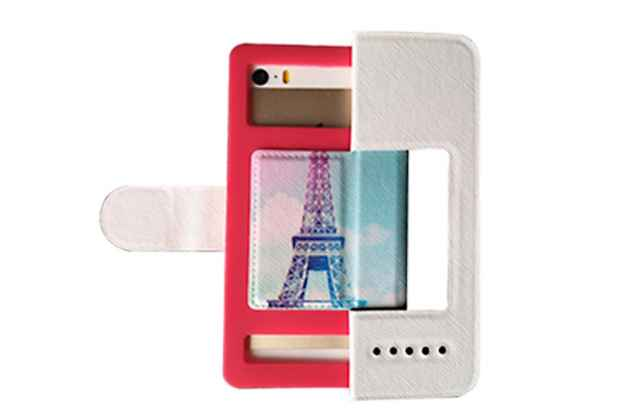 Чехол-книжка для LG X screen с застежкой и красивым необычным рисунком и внутренним защитным силиконовым бампером