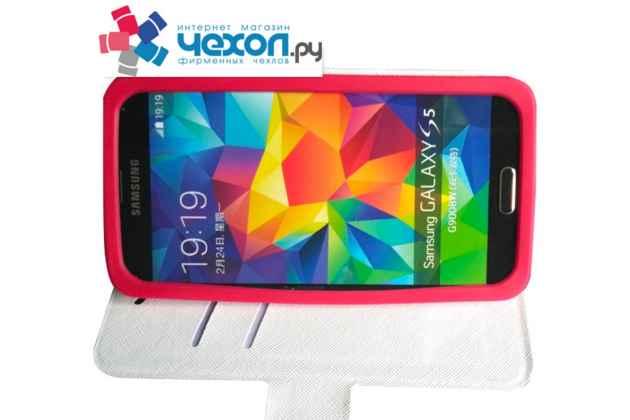 Чехол-книжка для Samsung Galaxy S4 Zoom SM-C101 с застежкой и красивым необычным рисунком и внутренним защитным силиконовым бампером