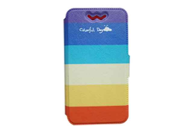 Чехол-книжка для Alcatel Idol 2 mini S 6036Y с застежкой и красивым необычным рисунком и внутренним защитным силиконовым бампером