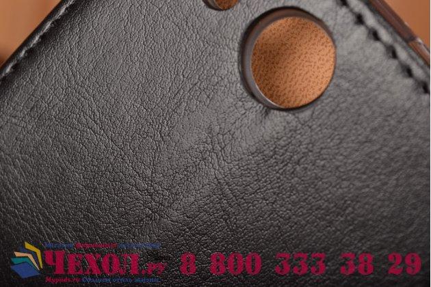 Фирменный чехол-книжка из качественной импортной кожи с мульти-подставкой застёжкой и визитницей для Айсер Эсер Ликвид Джет З с57  черный