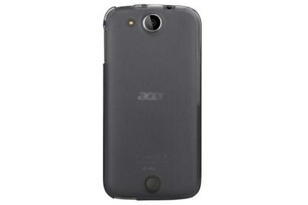 Фирменная ультра-тонкая полимерная из мягкого качественного силикона задняя панель-чехол-накладка для Acer Liquid Jade Z S57 черный
