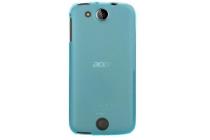 Фирменная ультра-тонкая полимерная из мягкого качественного силикона задняя панель-чехол-накладка для Acer Liquid Jade Z S57 голубая