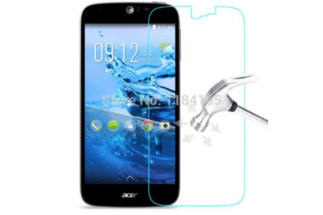 Фирменное защитное закалённое противоударное стекло премиум-класса из качественного японского материала с олеофобным покрытием для телефона Acer Liquid Jade Z S57