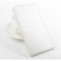 Фирменный оригинальный вертикальный откидной чехол-флип для Acer Liquid Jade Z  белый кожаный