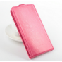 Фирменный оригинальный вертикальный откидной чехол-флип для Acer Liquid Jade Z S57 розовый кожаный