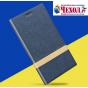 Фирменный чехол-книжка для Acer Jade Primo/ Liquid Jade 2 синий с золотой полосой водоотталкивающий..