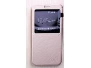 Фирменный чехол-книжка для Acer Jade Primo/ Liquid Jade 2 золотой с окошком для входящих вызовов из импортной ..