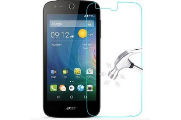 Фирменное защитное закалённое противоударное стекло премиум-класса из качественного японского материала с олеофобным покрытием для телефона Acer Liquid Z330/ Z330 Duo/M330