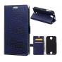 Фирменный чехол-книжка с подставкой для Acer Liquid Z330 Duo/M330 лаковая кожа крокодила фиолетовый..