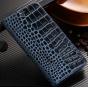 Фирменный роскошный эксклюзивный чехол с фактурной прошивкой рельефа кожи крокодила синий  для Acer Liquid Z33..