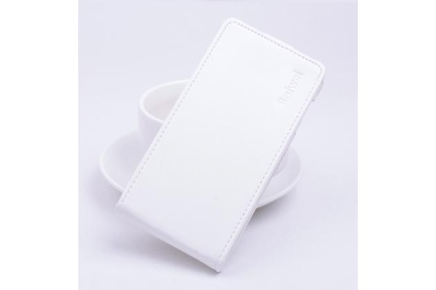 Фирменный вертикальный откидной чехол-флип для Acer Liquid Z330/ Z330 Duo/M330 белый