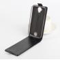 Фирменный вертикальный откидной чехол-флип для Acer Liquid Z330/ Z330 Duo/M330  черный..