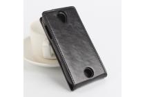 Фирменный вертикальный откидной чехол-флип для Acer Liquid Z330/ Z330 Duo/M330  черный