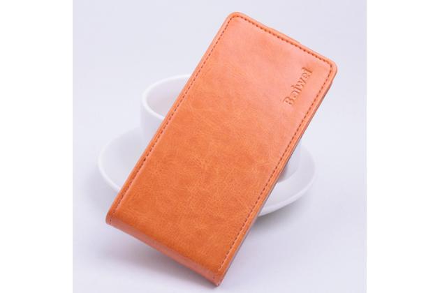 Фирменный вертикальный откидной чехол-флип для Acer Liquid Z330/ Z330 Duo/M330 оранжевый