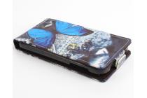 """Фирменный вертикальный откидной чехол-флип для Acer Liquid Z330/ Z330 Duo/ M330  """"тематика Бабочка"""""""