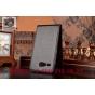 Фирменный оригинальный вертикальный откидной чехол-флип для Acer Liquid Z520 черный из натуральной кожи